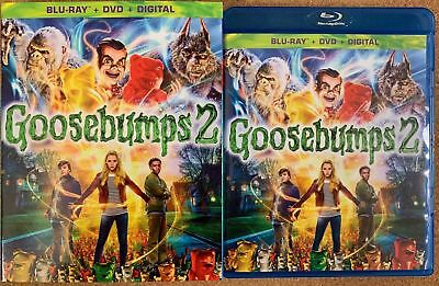 Goosebumps 2 Haunted Halloween Blu Ray Dvd 2 Disc Set + Slipcover Sleeve Buy It