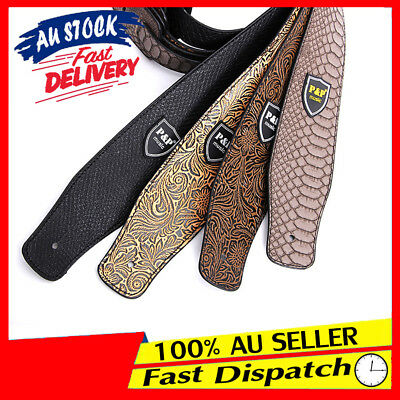 Soft Luxury Electric Classic PU Leather Basses AU Guitar Strap Acoustic