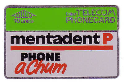 10 Unit Used Mentadent P Bt Phonecard With Notch