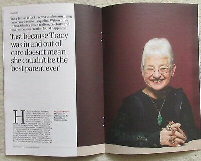 Jacqueline Wilson - Guardian Review – Issue 37 – 29 September 2018