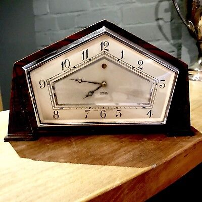 Ordiginal Art Deco mantel clock By smiths Electric