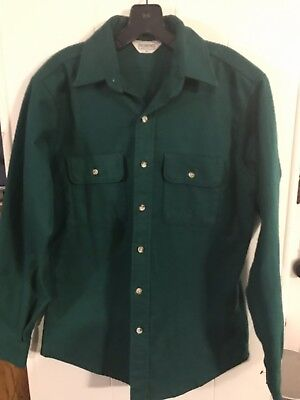 Five Brother Vintage Long Sleeve Shirt Thick Heavy Duty Cotton Men's Size Medium