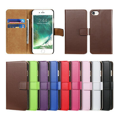 Vintage Case for iPhone Phones Cover Genuine Real Leather Flip Wallet