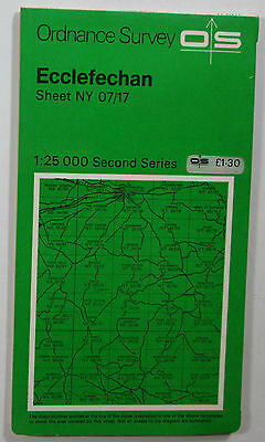 1978 vintage OS Ordnance Survey Second Series 1:25000 map Ecclefechan NY 07/17