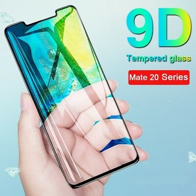 9D Full Cover Tempered Glass For Huawei Mate 20 P20 Lite Pro Screen Protector UK
