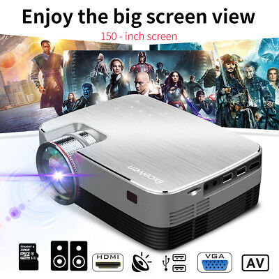 Mini Portable 1800 Lumens 1080P Led Projecteur Home Cinéma Cinema HDMI USB VGA