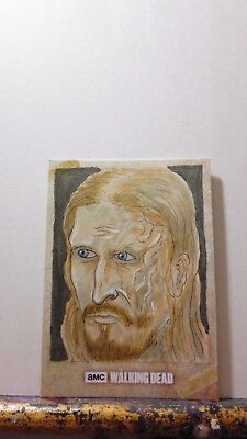 Official Topps Walking Dead Road To Alexandria Dwight Sketch Card