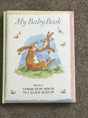 Baby record Book - Guess How Much I Love You - Perfect Baby Shower Gift