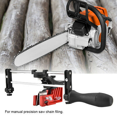 Bar Mount Mounted Manual Chain Sharpener Chainsaw Saw Chain Filing Guide Tool G