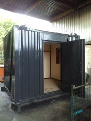 10ft x 8ft Anti Vandal Office Container - Grey - Superb condition