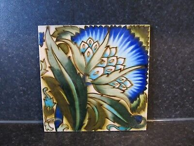 Antique Decorative Anglo Persian Ceramic Tile by Maw & Co Ltd