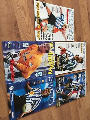 sheffield wednesday V Wimbledon football programmes