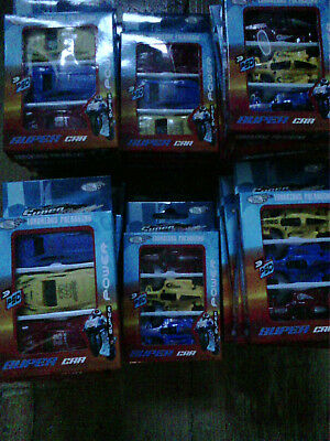 toy joblot 32 packs of 3 cars 2 designs New