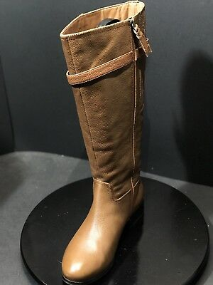 8cf4b094d53 Trotters Women Lyra Wide Calf Cognac Tumbled Leather Boot Size US 9 W RTL   200