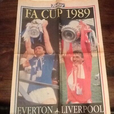 Today newspaper.FA Cup 1989.Everton v Liverpool.