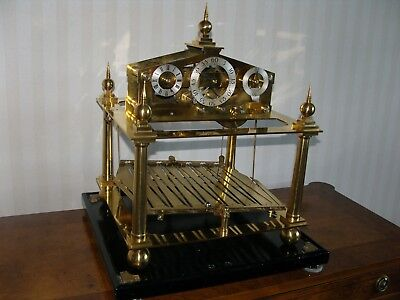 5 Finial Antique Style William Congreve Rolling Ball Clock