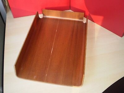 Vintage Retro 1960s Mid Century Modern Wood Letter Tray by Mallod, Great Britain