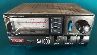 AVAIR AV-1000 HF/VHF/UHF SWR/RF Power Meter - Free Delivery