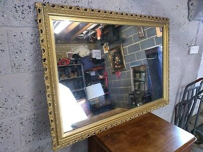 Large Antique Mirror- Over Mantle, Guilt Frame.