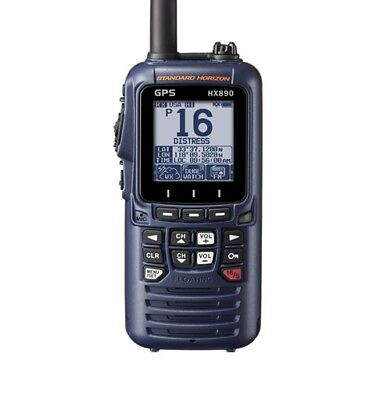 Standard Horizon HX890E VHF DSC Navy Blue Handheld Radio with EU/UK Charger
