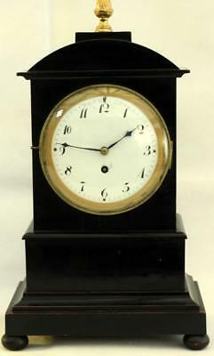 Early 19Th Century 8 Day Silk Escapement Ebonised Architectural Bracket Clock