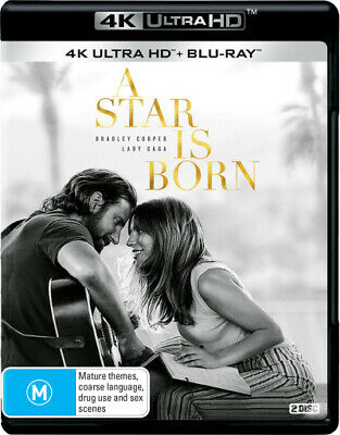 A Star is Born (2018) (4K UHD)  - BLU-RAY - NEW Region B