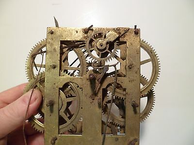 Early Signed Chauncey Jerome 30 Hour  Clock Movement Parts or Repair