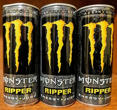 Ripper Monster Energy Drink cans (3)