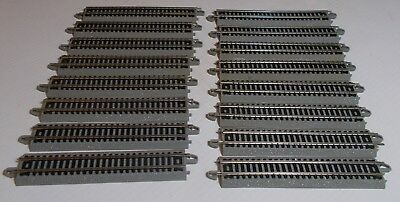 Train N Scale Lot Of Bachmann Ez Track 12 Sections 5 Inch Nice Track    .