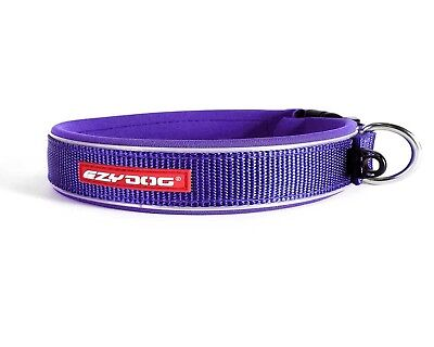 EZYDOG Neo Classic Dog Collar Purple Large 39-44cm New