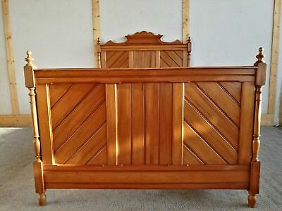 Pretty Antique Fruitwood French Bed
