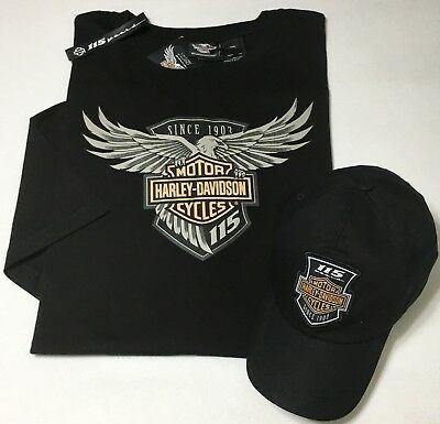 Harley-Davidson® Mens 115th Anniversary Ride Pack, T-Shirt, Cap, & Band, NWT 2X