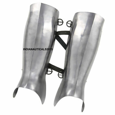 Medieval armor functional leg guard ancient greek greaves protective 18g