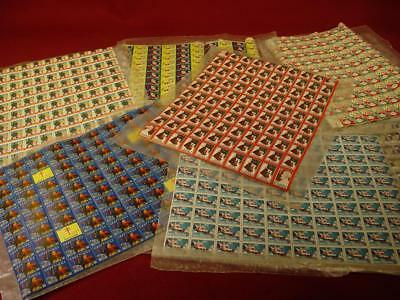 :LARGE LOT VINTAGE CHRISTMAS SEAL STAMPS 1930's 40's 50's FULL SHEETS