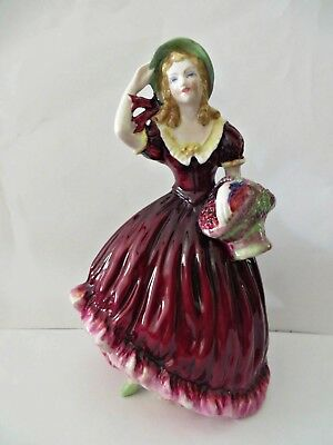 Vtg 1975 COALPORT BREEZE Ladies of Fashion Bone China Porcelain Figurine England
