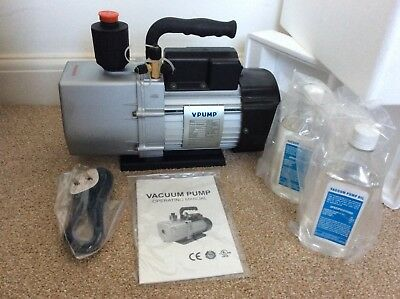 Air conditioning, 12cfm Vac pump ( V-pump ) Duel Stage. Never used.