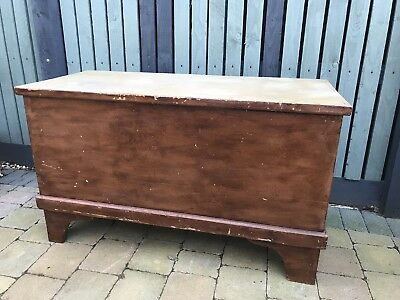 Large Vintage Antique Wooden Pine Blanket Box / Chest /Toy Box / Coffee Table