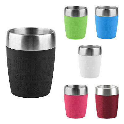 Emsa TRAVEL CUP Isolierbecher Kaffeebecher Thermobecher to go Edelstahl 0,2 L