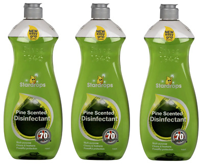 Stardrops Pine Scented Disinfectant Multi Purpose Household Cleaner 3 x 750mls