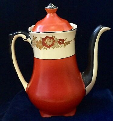 Early 20th Century Wedgwood & Co Porcelain Coffee Pot Richelieu Pattern
