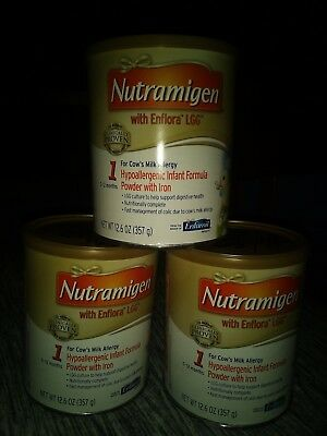 (3) 12.6 OZ CANS Of NUTRAMIGEN WITH ENFLORA LGG.
