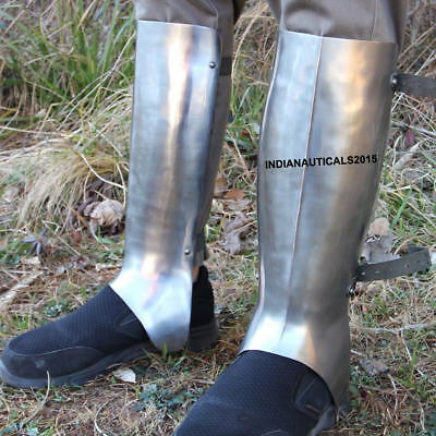 Medieval armor ancient greek greaves Protective 18g Functional Leg Guard
