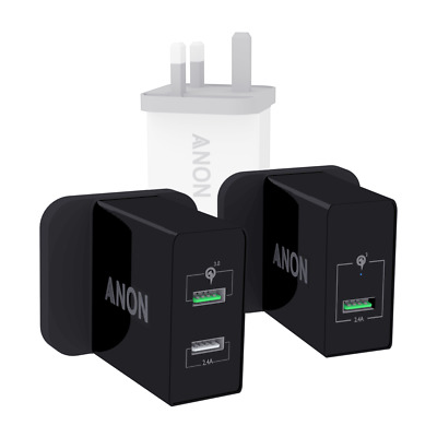 Genuine Anon Mains Fast Charger Plug Usb Uk For Allview A10 Plus