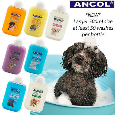 Ancol Dog Puppy Grooming Shampoo Conditioner Concentrate 500ml value bottles