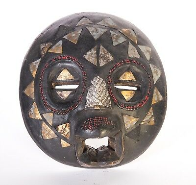 Vintage Hand Crafted African Tribal Mask Made in Ghana