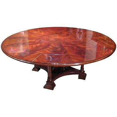Bespoke 7ft Diameter Flame Mahogany Jupe Dining Table & Leaf Holder