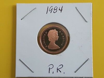 Canada 1984 Proof Gem UNC One Cent Penny!!