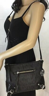 0fc037bf20f270 MICHAEL KORS FALLON Signature Messenger Crossbody Black - $99.00 ...