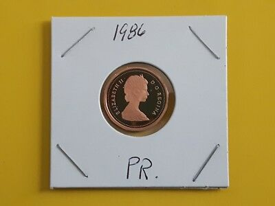Canada 1986 Proof Gem UNC One Cent Penny!!