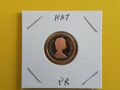 Canada 1987 Proof Gem UNC One Cent Penny!!
